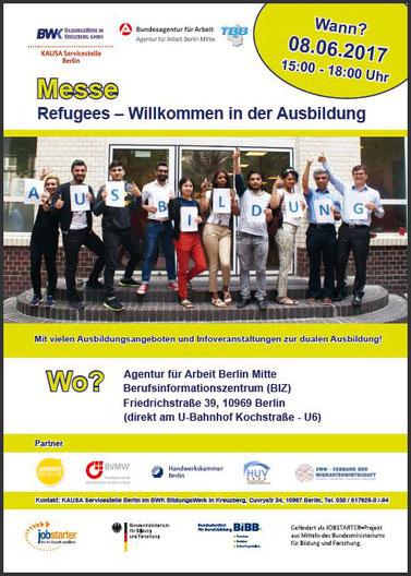 8 messe refugees willkommen in der ausbildung. Black Bedroom Furniture Sets. Home Design Ideas